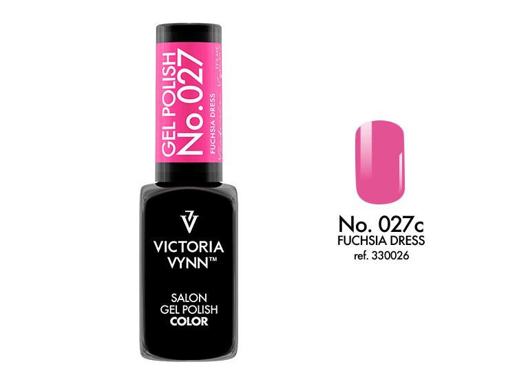 VICTORIA VYNN Gel Polish lakier hybrydowy 027 Fuchsia Dress 8ml