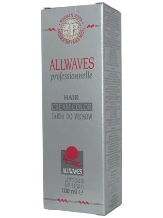 Allwaves farba do włosów 100ml super popielaty  blond 1001